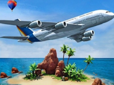 Airplane Simulator Island Travel