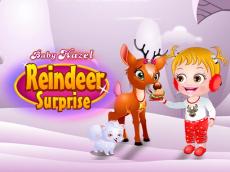Baby Hazel Reindeer Suprise
