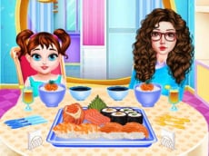 Baby Taylor Sushi Cooking