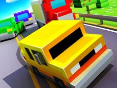 Blocky Highway: Traffic Racing -race