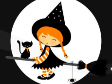 Cute Halloween Witches Jigsaw