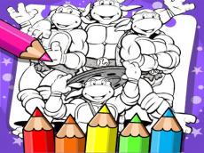 Ninja Turtle Coloring Book