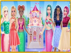 Princess & Mermaid Doll House Decorating
