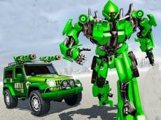 US Police Car Real Robot Transform