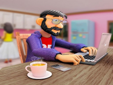 Virtual Work online From Home Simulator